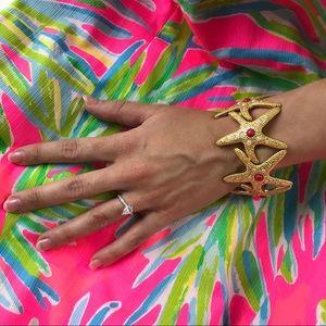 Lilly Pulitzer Gold Starfish Cuff Bracelet